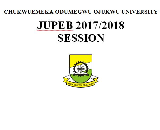 JUPEB programme for 2017/2018 session
