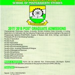 2017/2018 Postgraduate Applications