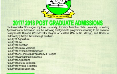 2017/2018 Postgraduate Applications
