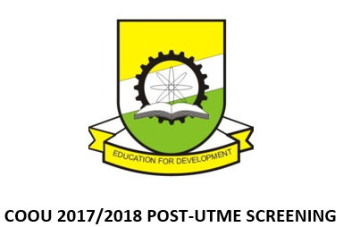 COOU POST UTME CANDIDATES SCREENING FOR THE 2017/2018 ADMISSIONS