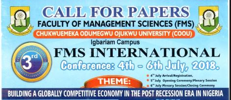CALL FOR PAPERS: FACULTY OF MANAGEMENT SCIENCES CONFERENCE-2018